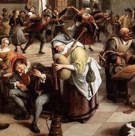feet in a tavern, Jan Steen